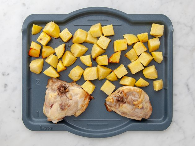 Chicken Thighs (Bone-In and Skin-On) and Potatoes wide display