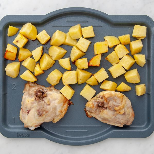 Chicken Thighs (Bone-In and Skin-On) and Potatoes — Brava