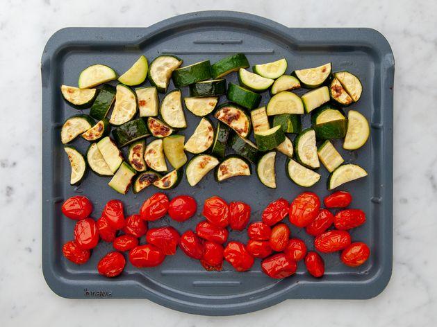 Zucchini and Cherry Tomatoes wide display