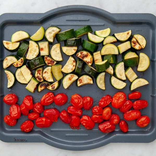Zucchini and Cherry Tomatoes narrow display