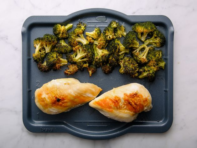 Chicken Breasts and Broccoli wide display