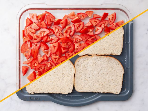 Tomato Bruschetta with Toast wide display