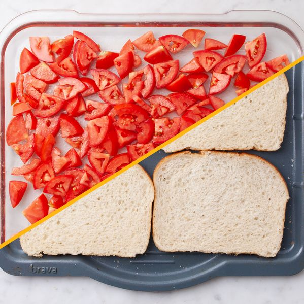 Tomato Bruschetta with Toast narrow display