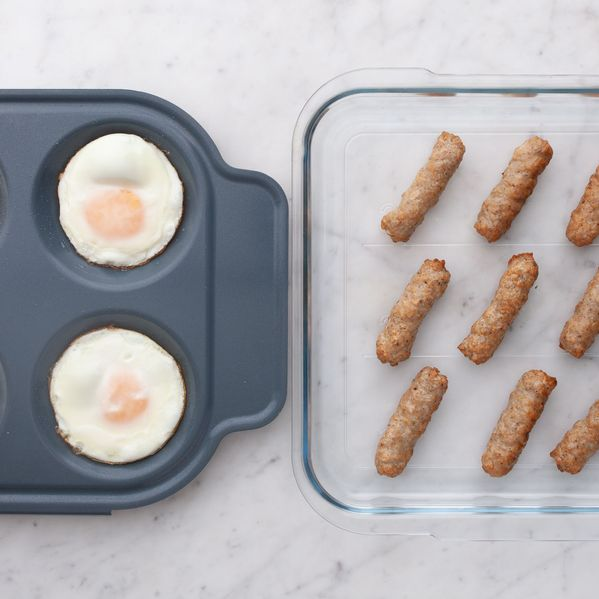 Eggs and Frozen Sausage Links narrow display