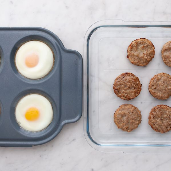 Eggs and Frozen Sausage Patties narrow display