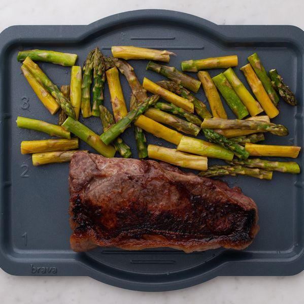 NY Strip Steak and Asparagus narrow display