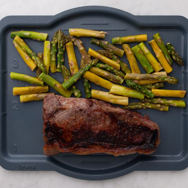 NY Strip Steak and Asparagus narrow display