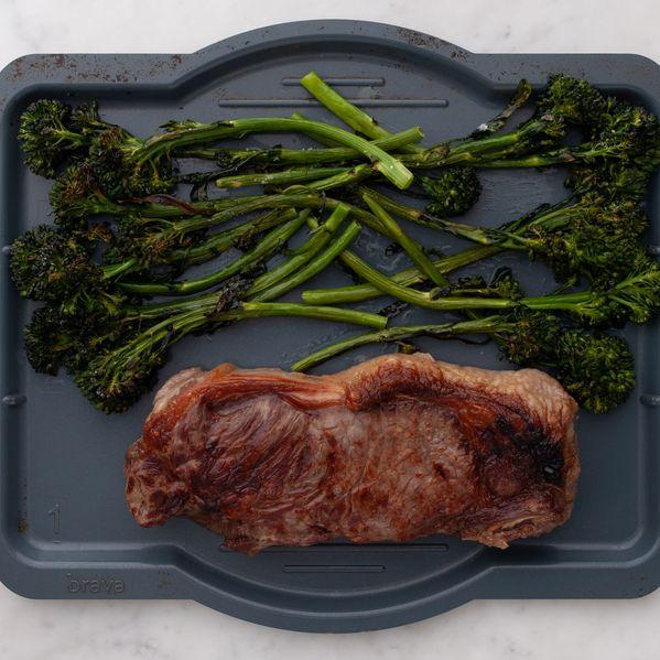 NY Strip Steak and Baby Broccoli narrow display