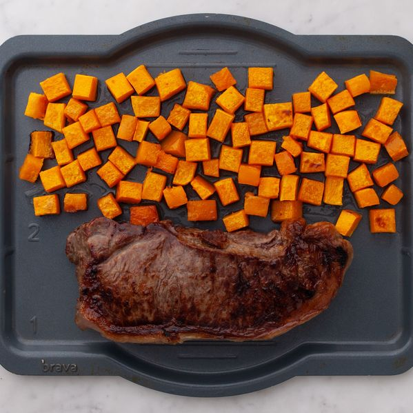 NY Strip Steak and Butternut Squash narrow display