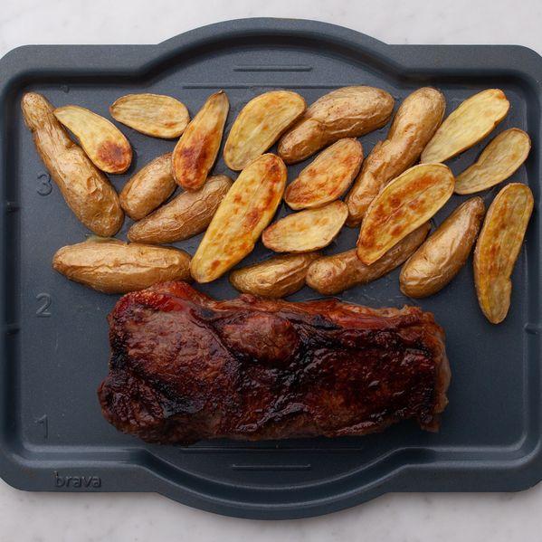 NY Strip Steak and Fingerling Potatoes narrow display
