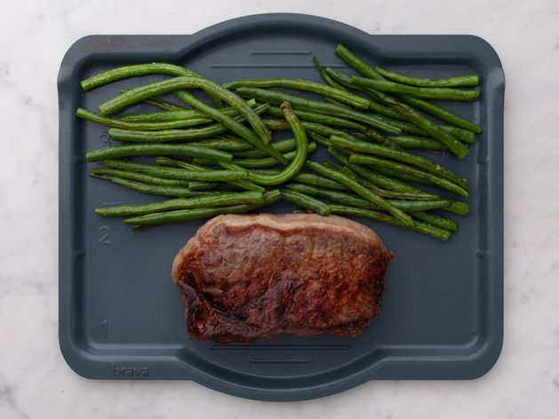 NY Strip Steak and Green Beans wide display