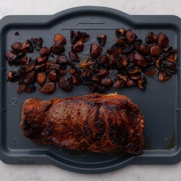 NY Strip Steak and Mushrooms narrow display