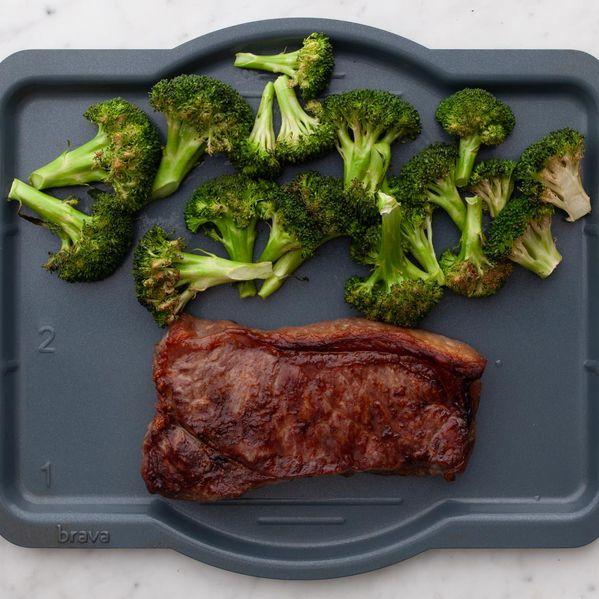 NY Strip Steak and Broccoli narrow display