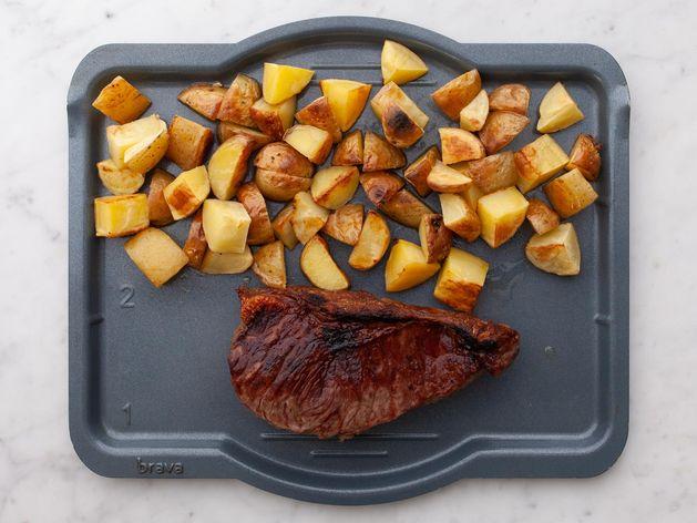 NY Strip Steak & Potatoes wide display