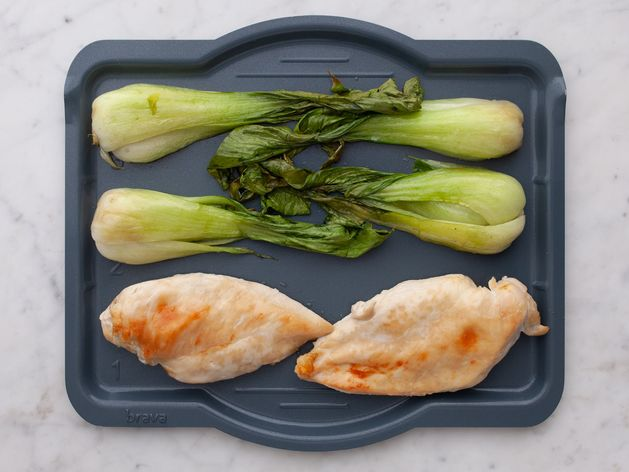 Chicken Breasts and Bok Choy wide display