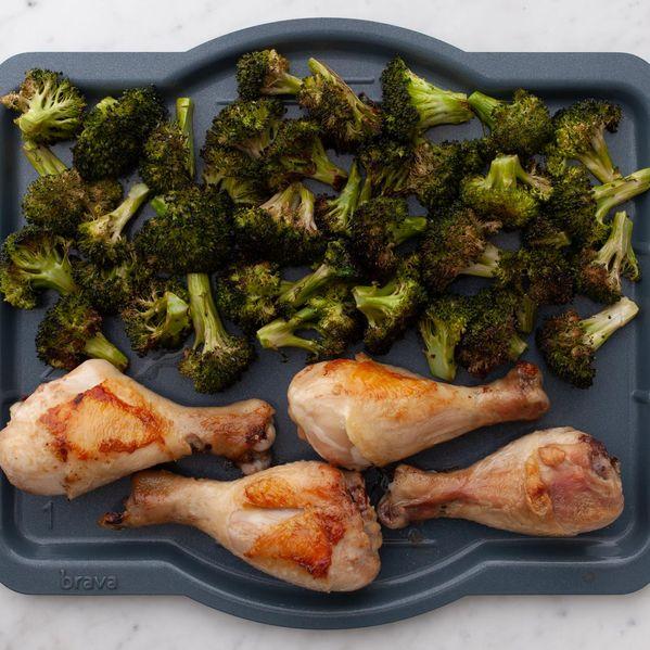 Chicken Drumsticks and Broccoli narrow display