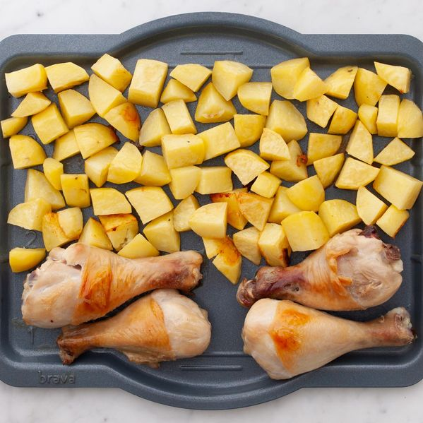 Chicken Drumsticks and Potatoes narrow display