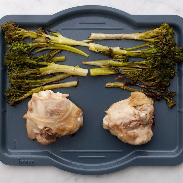 Chicken Thighs and Baby Broccoli narrow display