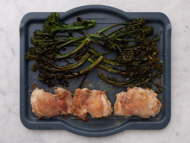 Chicken Thighs (Boneless and Skinless) with Baby Broccoli wide display
