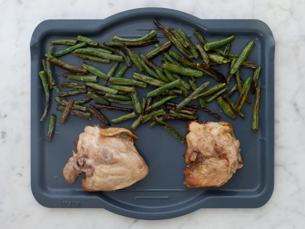 Chicken Thighs (Bone-In and Skin-On) and Green Beans wide display