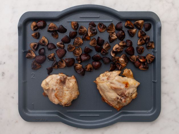 Chicken Thighs (Bone-In and Skin-On) and Mushrooms wide display