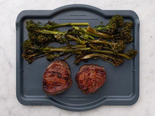 Filet Mignon and Baby Broccoli wide display
