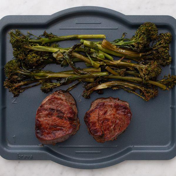 Filet Mignon and Baby Broccoli narrow display