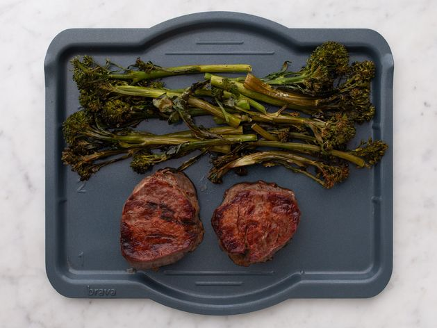 Filet Mignon and Baby Broccoli wide display