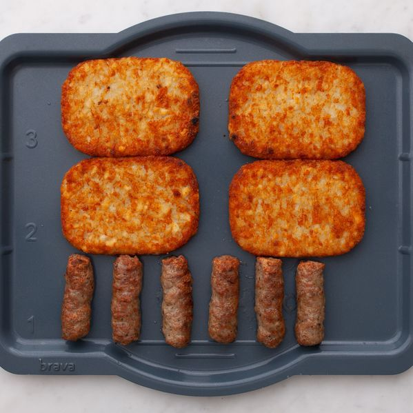 Frozen Sausage Links and Frozen Hash Browns narrow display
