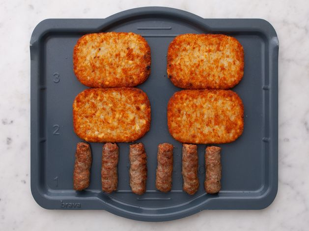 Frozen Sausage Links and Frozen Hash Browns wide display
