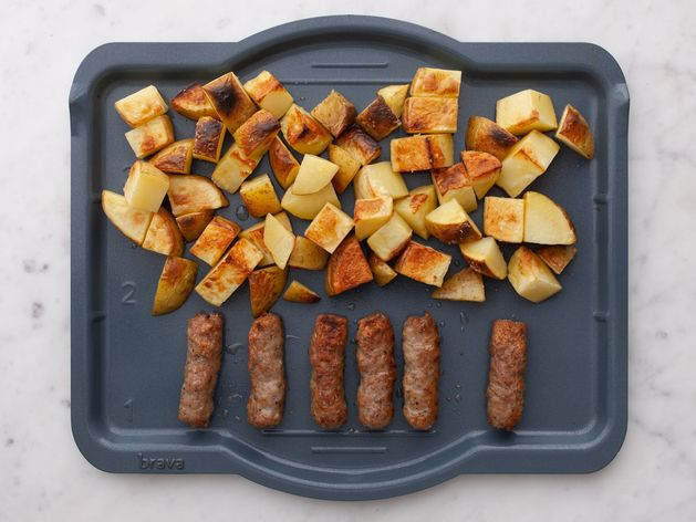 Frozen Sausage Links and Potatoes wide display