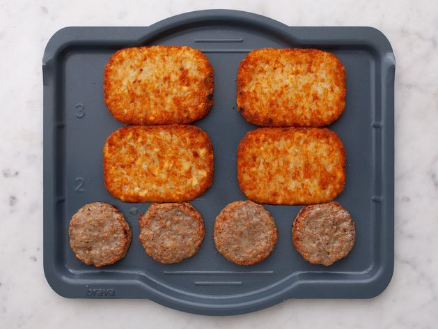Frozen Sausage Patties and Frozen Hash Browns wide display