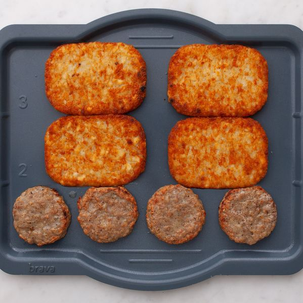 Frozen Sausage Patties and Frozen Hash Browns narrow display