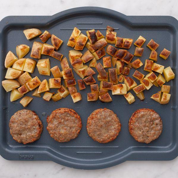 Frozen Sausage Patties and Potatoes narrow display