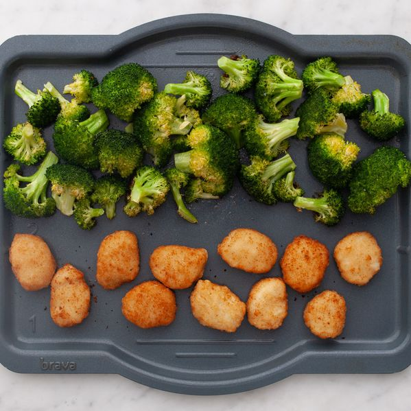 Chicken Nuggets and Broccoli narrow display