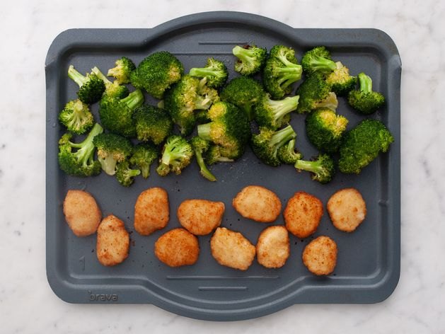 Chicken Nuggets and Broccoli wide display