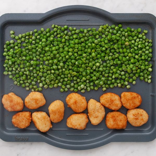 Chicken Nuggets and Frozen Peas narrow display