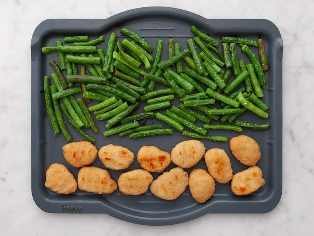 Chicken Nuggets and Green Beans wide display