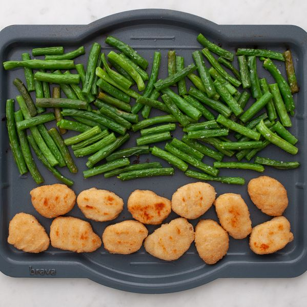 Chicken Nuggets and Green Beans narrow display