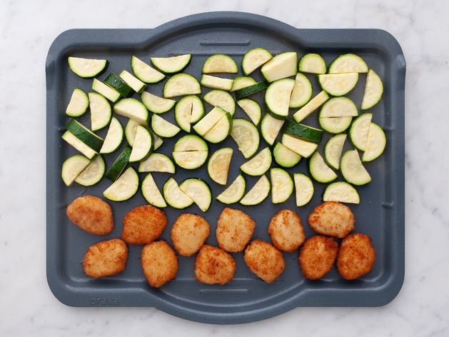 Chicken Nuggets and Zucchini wide display