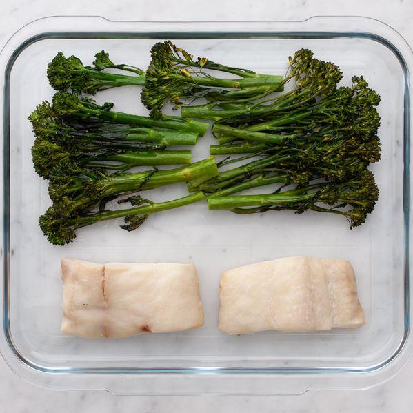 Halibut and Baby Broccoli narrow display