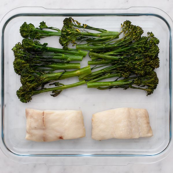 Halibut and Baby Broccoli narrow display