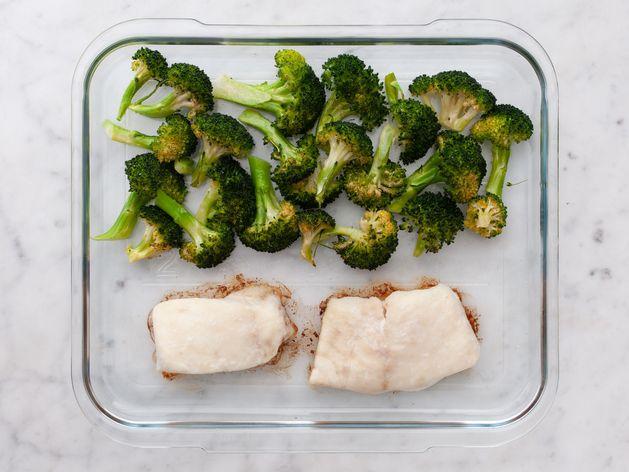 Halibut and Broccoli wide display