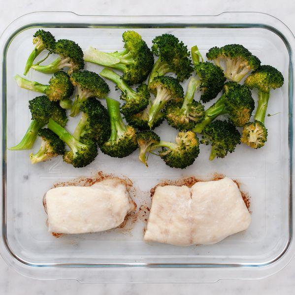Halibut and Broccoli narrow display