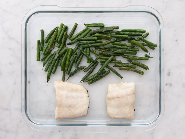 Halibut and Green Beans wide display