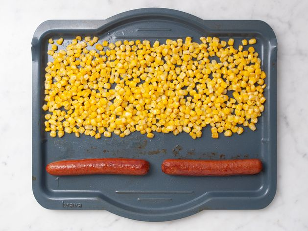 Hot Dogs and Frozen Corn wide display