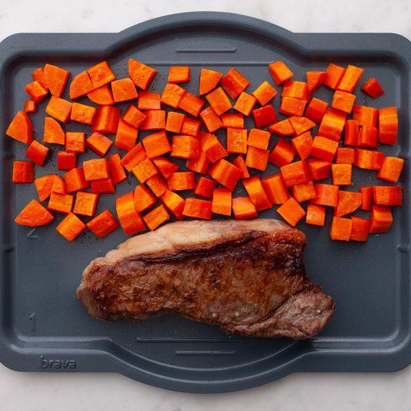 NY Strip Steak and Carrots narrow display