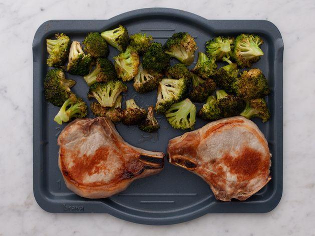 Bone-In Pork Chops & Broccoli wide display