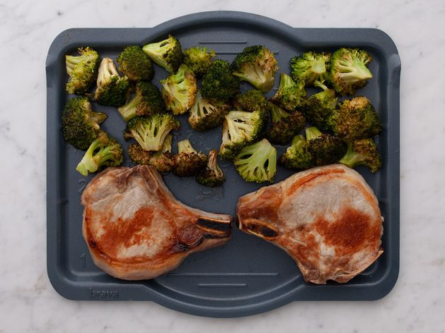 Pork Chops (Bone-In) and Broccoli wide display