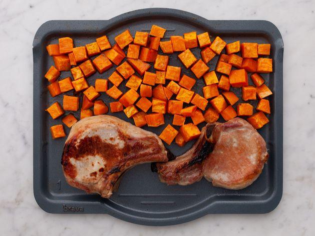 Pork Chops (Bone-In) and Sweet Potatoes wide display